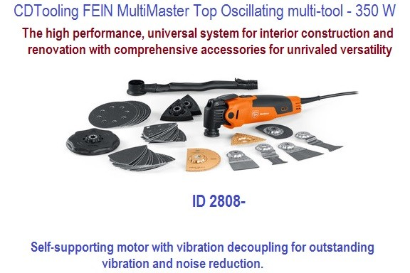 FEIN MultiMaster Top Oscillating multi-tool Complete Kit - 350 W ID 2808-