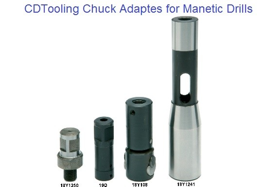 Chuck Adaptors for Magnetic Drill Units
