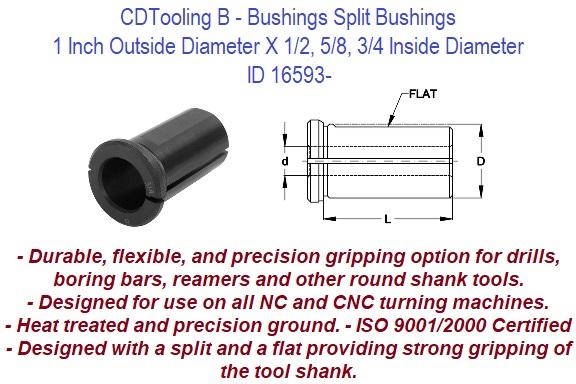 FOR CNC LATHE MACHINE SHOP TOOLING BORING BAR BUSHING 1//2 I.D X 1 1//4 O.D
