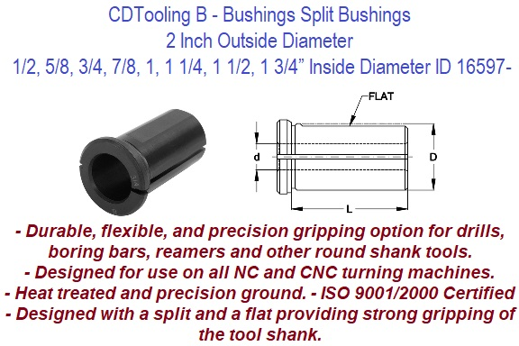 "5C Collet Chuck Holder Bushing Quick Change 2 1//2/"" Dia"