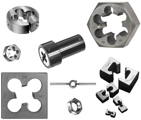 2-64 CARBON STEEL HEXAGONAL RE-THREADING DIE