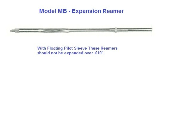Expansion Reamer Model MB - With Floating Pilot Sleeve H