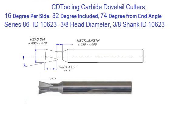 "1//2/"" Diameter x 1//4/"" Width 10 Teeth x .030/"" Corner Radius Solid Carbide Key"
