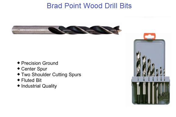 """Cobalt Drill Bit Set >> Brad Point Wood Drill Bit Sizes1/8 to 1"""""""