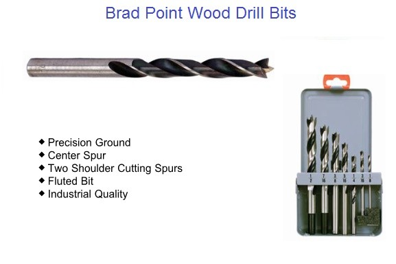 Brad Point Wood Drill  Bit Sizes1/8 to 1