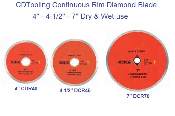 Diamond Wheels Continuous Wet / Dry Cutting Blade 4