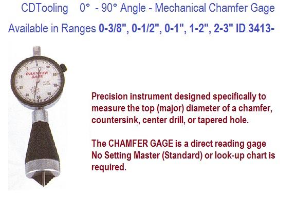 0 to 90 degree angle mechanical chamfer gage 0 3 8 0 1 2 0 1 1 2 2