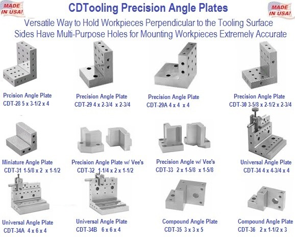 Angle Plates, Precision, Universal, Compound, Vee's USA Made