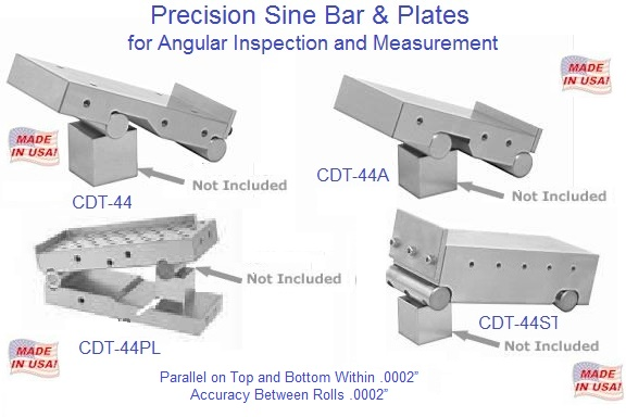 Precision Sine Plate And Bars 2 1 2 2 5 8 3 4 Inch Wide