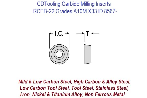 RCEB 22 Positive Top Ground Carbide Inserts Carbide Insert A10M X33 B1M, 10 Packs ID 8567-