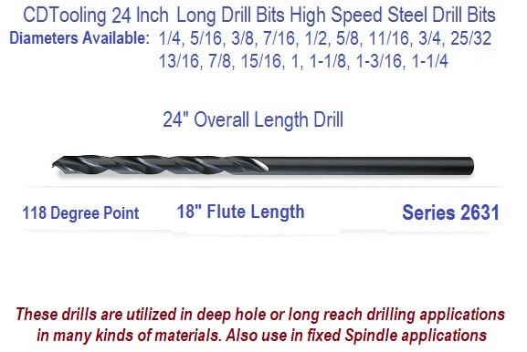 13//32 Extra Long Taper Shank Drill Bit MT-1,Flute 7