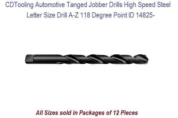 Lot of 12 #19 High Speed Jobber Length Drill Bits 118 Degree TiN