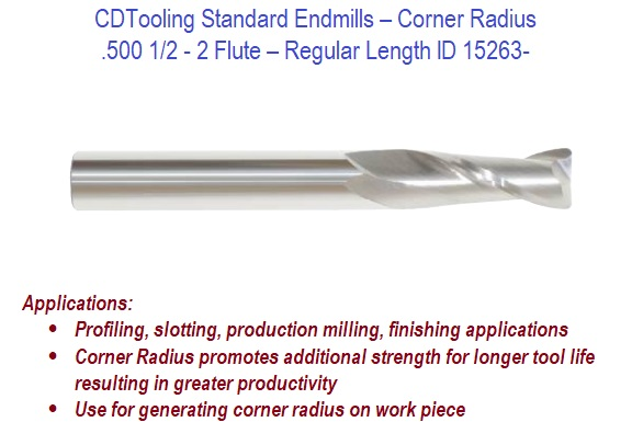 Kennametal Carbide Endmill 5 Flutes 1//2 Inch Diameter 3 OAL Coated W// AlTin