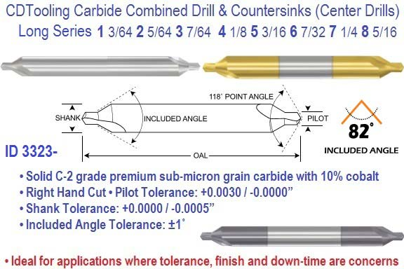 H.S Size 6 Cobalt Combined Drill and Countersink 82 Degrees
