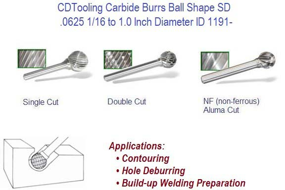 SD- Ball Shape Carbide Burrs ID 1191-