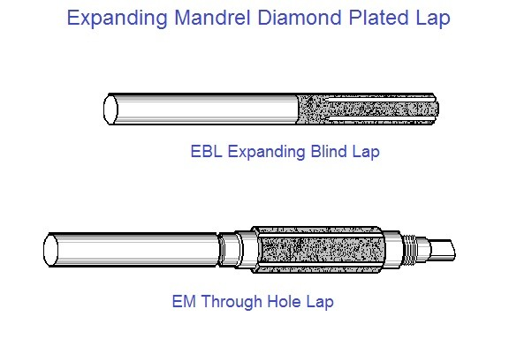 Diamond Plated Expanding Mandrels Accurate Hole Lapping