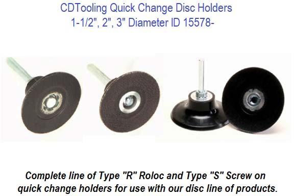 "2/"" Inch 80 Grit Ceramic Quick Change Sanding Discs Type R Roloc 50 Pack"
