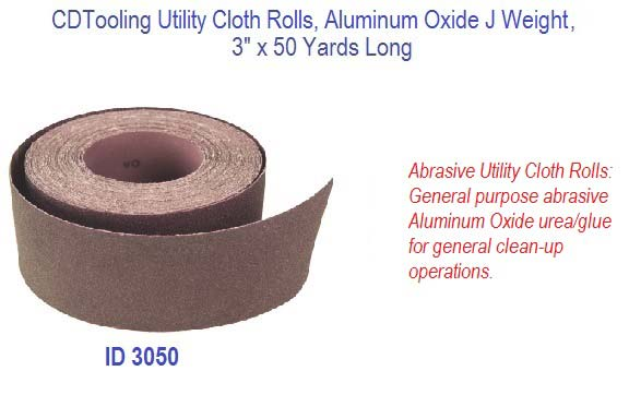Utility Cloth Rolls Aluminum Oxide J Weight 3 X 50 Yards Long Id 3050