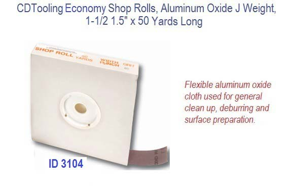 "60 Grit 2-3//4/"" Aluminum oxide J-weight Cloth Sanding Roll 5 Yards"
