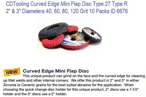 """2/"""" Mini Flap Discs 80 Grit Quick Change Sanding Roloc Style Type R 10 Pack"""