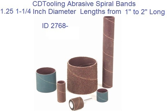 Abrasive Spiral Bands 1.25 1-1/4 Inch Diameter from 1 to 2