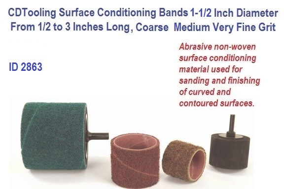Surface Conditioning Bands 1.5 1-1/2 Inch Diameter from 1/2 to 3