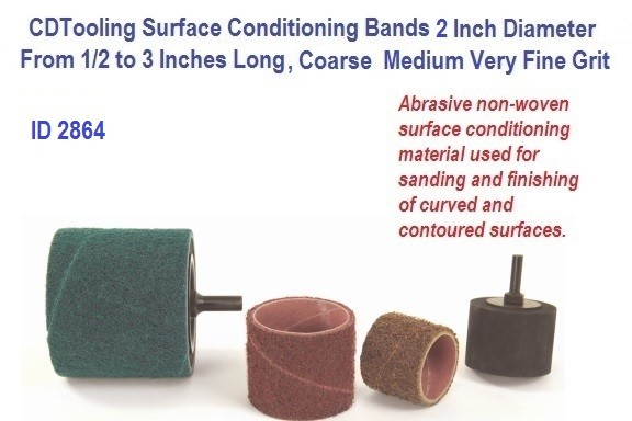 Surface Conditioning Bands 2 Inch Diameter from 1/2 to 3