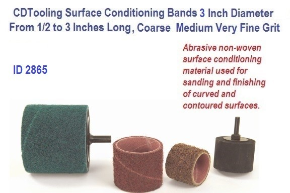 Surface Conditioning Bands 3 Inch Diameter from 1/2 to 3