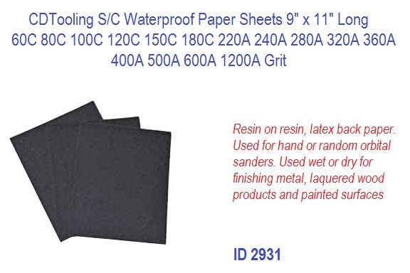 S/C Silicon Carbide Waterproof Paper Sheets 9