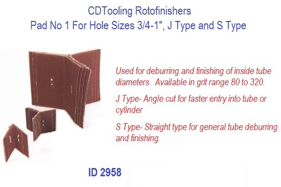 Rotofinishers Pad No 1 For Hole Sizes 3/4