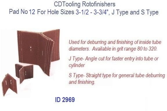 Rotofinishers Pad No 12 For Hole Sizes 3-1/2 - 3-3/4