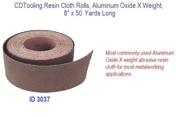 Resin Cloth Rolls, Aluminum Oxide X Weight, 8