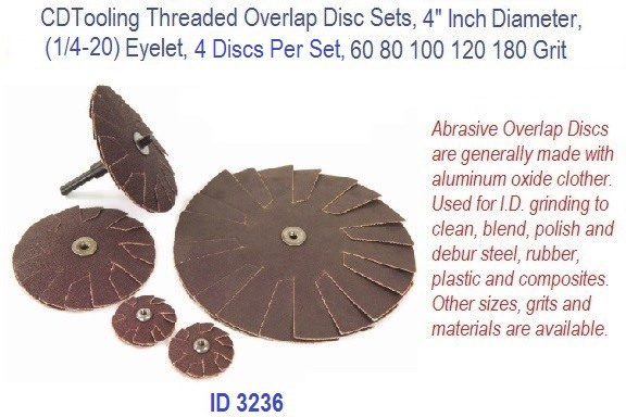 Threaded Overlap Disc Set, 4