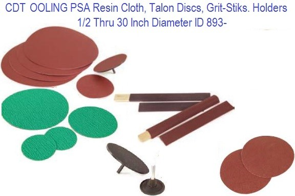 PSA Resin Cloth, Talon Discs, Grit-Sticks. Holders ID 893-