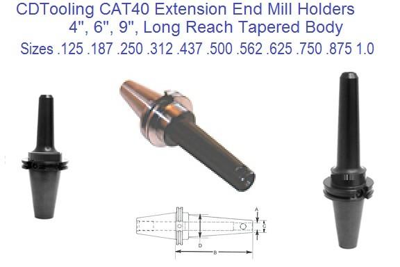 "End Mill Holders 2-5//16/"" Proj. CAT40 1//8/"" Hole Dia"