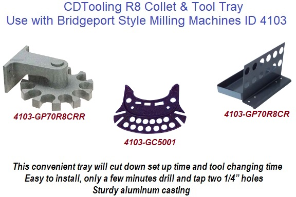 NEW R8 Collet Rack /& Tool Tray with 15 Holes High Precision HIGH QUALITY USA