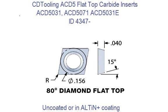 ACD5031, ACD5071, ACD5151 Carbide Inserts 5 Pack ID 4347-