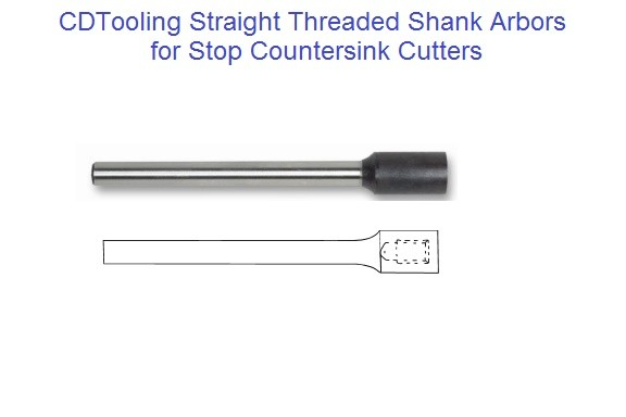 Straight Threaded Shank Arbors for Stop Countersink ID 1666-