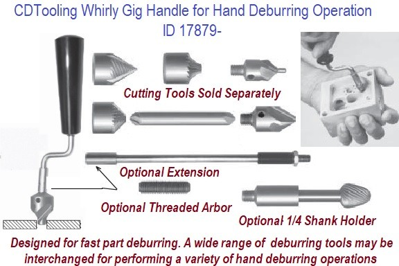 Whirly Gig Handle For Hand Deburring Operations ID 17879-