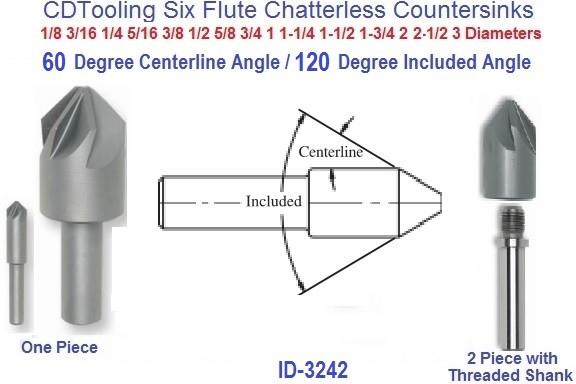 3//4-60 HSS 4 Flute Machine Countersink