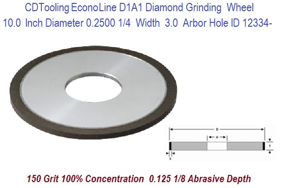"SHARS 6 X 1//8/"" D1A1 STRAIGHT STYLE DIAMOND WHEEL 100 GRIT NEW"