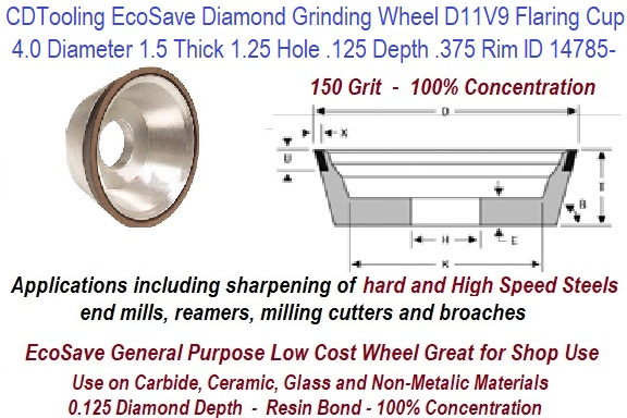 "SHARS 6 x 3//4/"" DIAMOND PLAIN CUP WHEEL GRINDING D6A2C 100 GRIT NEW"