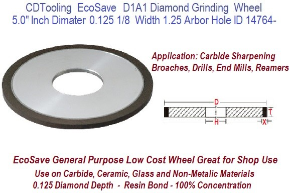 """SHARS 7 X 1//4/"""" D1A1 STRAIGHT STYLE CBN GRINDING WHEEL 150 GRIT NEW"""