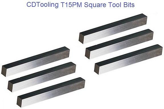 T15PM Square Tool Bit Size 1/8 3/16 1/4 5/16 3/8 1/2 5/8 3/4 1 1-1/4 x 2.5 to 8 inch Lengths