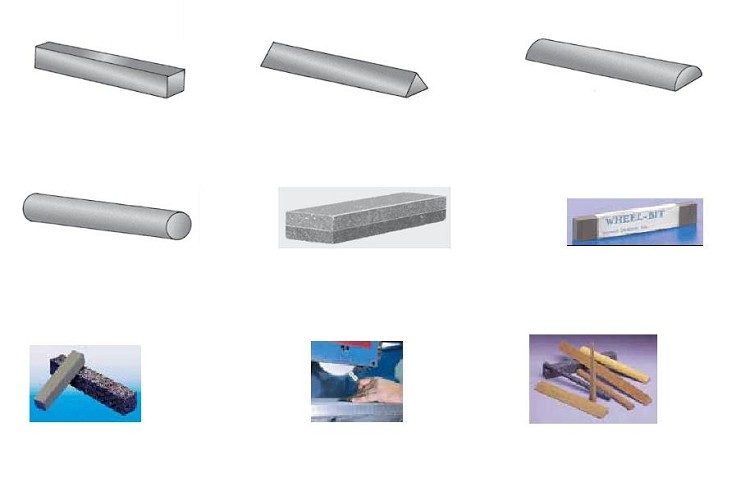 Abrasive Finishing Sticks, Wheel and Belt Cleaning Sticks