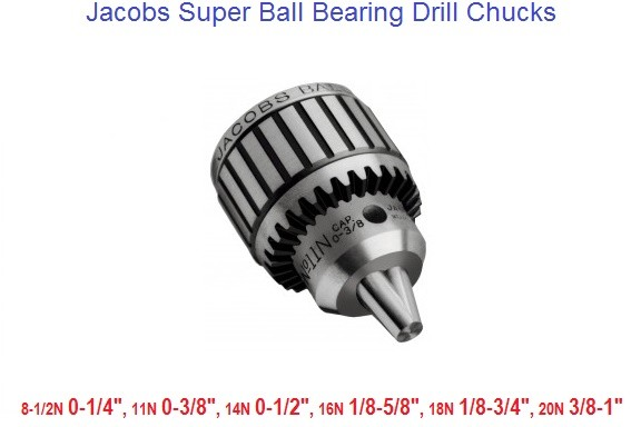 Drill Chucks Jacobs Ball Bearing 1/4