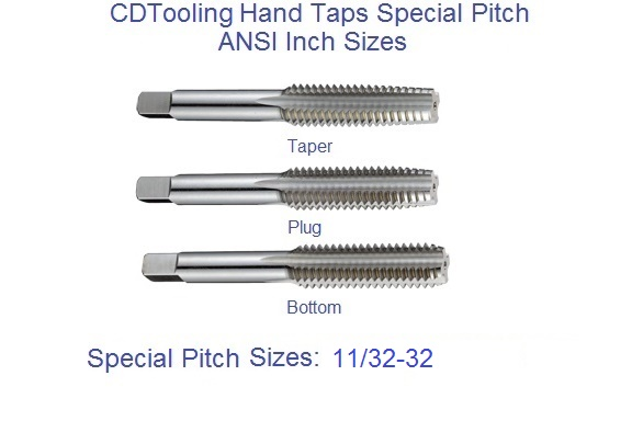 2 Pcs. 11//32-32 HSS Plug Tap