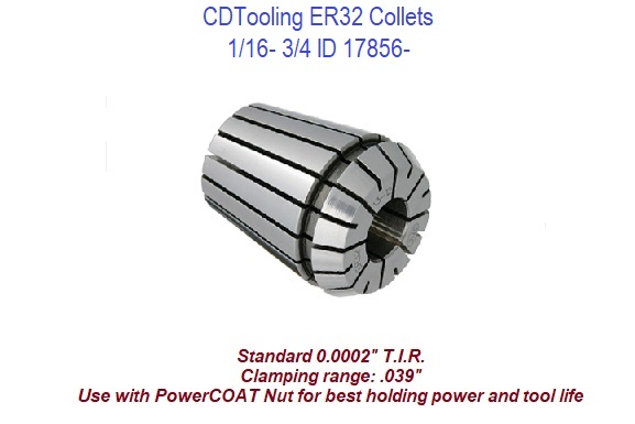 Techniks 9//32 ER32 Steel Sealed Collet Super Precision