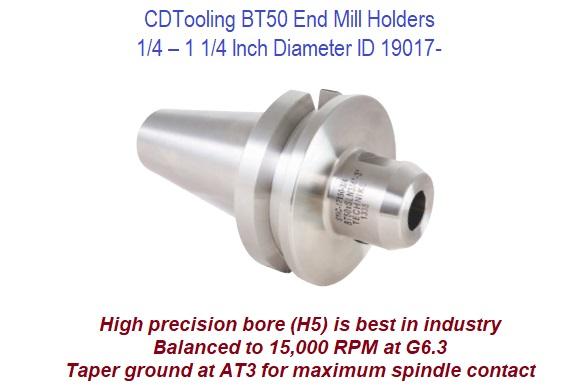 "Techniks BT50 X 1/"" Diameter x 4.5/"" Length End Mill Holder"