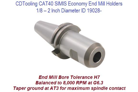 Techniks CAT40 3//8 Diameter x 1.75 End Mill Holder